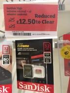 Half Price SanDisk Extreme 32gb microSD + SD Adaptor