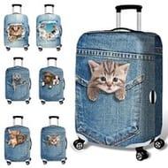 18-32 Inch Case 3D Cute Cat/dog Elastic Luggage Cover Anti Scratch Trolley Case
