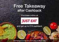 Free* £15 Just Eat Takeaway