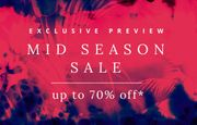 Mid Season Sale up to 70% Off