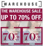 GOOD DEALS NOW at Warehouse!