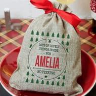 Free Personalised Christmas Sacks