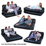 5 in 1 Inflatable Multi Function Double Air Bed Sofa Chair Couch Lounger