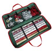 Christmas Gift Wrap Fabric Storage Bag - for Paper, Tags & Bows Only £5.99