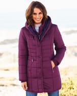 Half Price Padded Hooded Coat