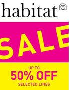 The Habitat SALE is on - up to 50% off Furniture & Furnishings