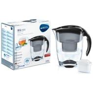 Brita Elemaris Meter XL Water Filter Jug - Black