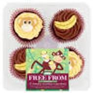 ASDA Free from 4 Cheeky Monkey Cupcakes