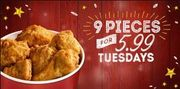 KFC Chicken Tuesdays - 9 Pieces for £5.99 is Back Again