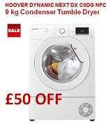 £50 OFF: HOOVER Dynamic 9 Kg Condenser Tumble Dryer, FREE DELIVERY