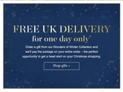 Free UK Delivery with Christmas Gifts
