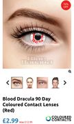 Halloween Contact Lenses Various Styles £2.99