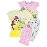 Disney Princess Beauty and the Beast Pyjamas 2 Pack