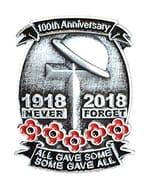 100th Anniversary Remembrance Pin Badge (£1.59 P&p)