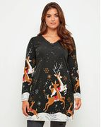 Joe Browns Funky Reindeer Tunic Size 12 up to 26
