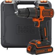 Black & Decker Hammer Drill 18V Lithium-Ioninc Charger + Battery and Kitbox