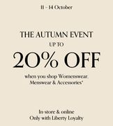 Starts 11 Oct up to 20% off Your New Wardrobe