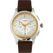 VICTORINOX Brown Leather Alliance Chronograph Watch Free Delivery