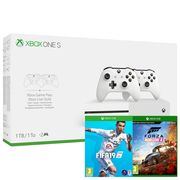 Xbox One S 1TB Dual Controller Console with Forza Horizon 4 + FIFA 19 Only £299