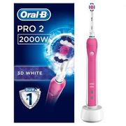 Oral-B Pro 2000 3D White Pink Electric Toothbrush at Superdrug
