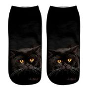 Women's Men's Fashion Cute Animal Cat 3D Printed Soft Casual Ankle Sock