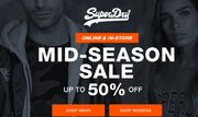 Mid Season Sale with up to 50% off at Superdry