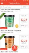 Oppo Ice Cream 75p after Cashback from CheckoutSmart at Asda.