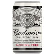 3 X Budweiser Prohibition Alcohol Free Beer 330ml