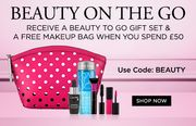 Receive a Beauty to Go Gift Set & a Free Makeup Bag When You Spend £50