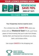 Kaspersky Upto 70% off