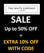 The White Company Sale: Up to 50% off + Extra 10% off with CODE