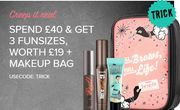 Spend £40 and Get 3 Funsizes at Benefit