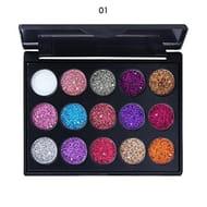 15 Glitter Eyeshadow Palette (Free P&p)