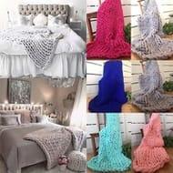 Chunky Knit Wool Blanket