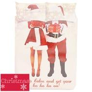 Christmas Selfie Santa Duvet Cover Set (Double)