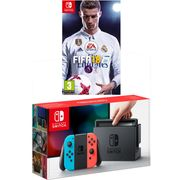 Nintendo Switch 32GB with FIFA 18 Bundle - Neon Red/Blue Only £309