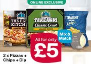 Chicago Town 2 Pizzas, Chips and Dip Meal Deal Online Exclusive