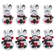 8pcs Set Kitchen Cutlery Suit Silverware Holders