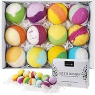 12 Fizzy Bubble Bath Bath Bombs