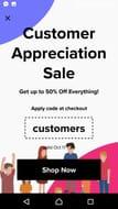 50% off Customer Appreciation