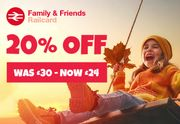 20% off Family & Friends Railcard