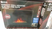 Electric Fire Suite with Bluetooth Speakers Built In