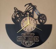 Harley Davidson Vinyl Record Clock home decor gift