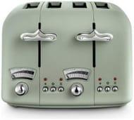 De'Longhi CTO4 Argento Flora 4 Slice Toaster - Green Only £29.99