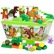 Save 74% on 40 Piece Dinosaur Building Blocks