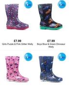 Mix + Match 2 Pairs of Kids Wellies for £10 Free Delivery