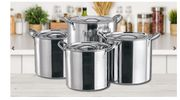 4-Piece Large Stainless Steel Stock Pot Set Go-groopie+5.99 Delivery