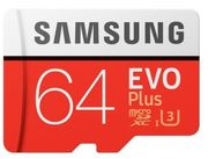 Samsung EVO plus Micro SDXC UHS-I Card with Adapter - 64GB