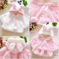 Baby Girl Cute Plush Cloak Winter Coat