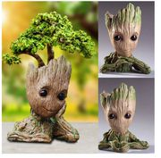 1Pc Aikes Groot Action Figures Guardians of the Galaxy Flowerpot Baby Cute Model